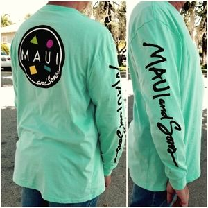 Maui and Sons men's long sleeve cookie tshirt
